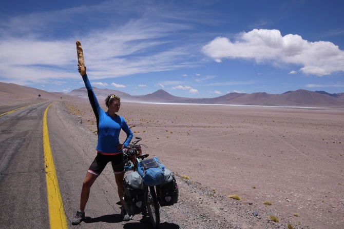 Armed and dangerous at 4,000m high. On route to Paso de Jama, Chile.Landscape
